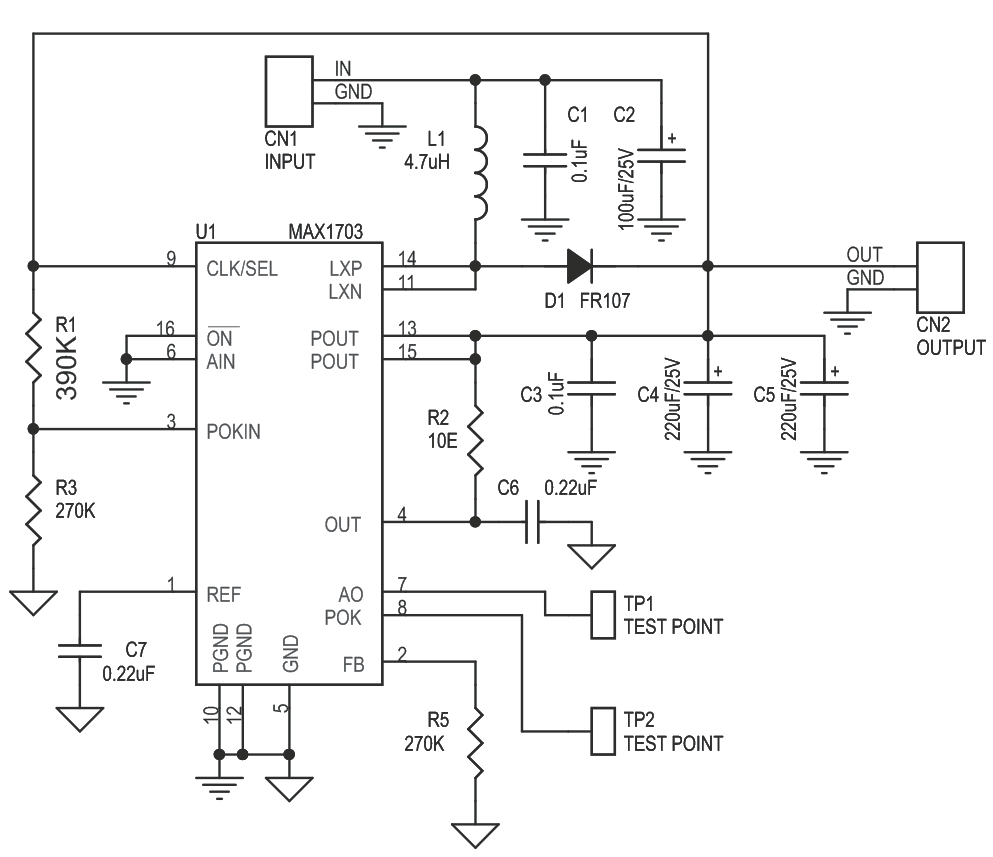1 Cell-Battery to 5V Step Up DC-DC Converter Using MAX1703 (2)