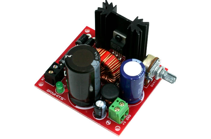 1.2V 35V Adjustable Power Supply Using LM2576-ADJ Step Down DC-DC Converter (1)