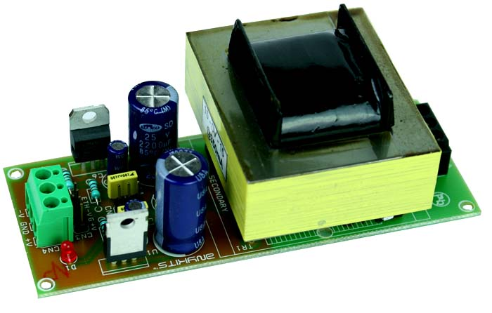 15V 350mA Symmetrical Regulated Power Supply Using On Board Transformer and 7815-7915 Regulators (1)