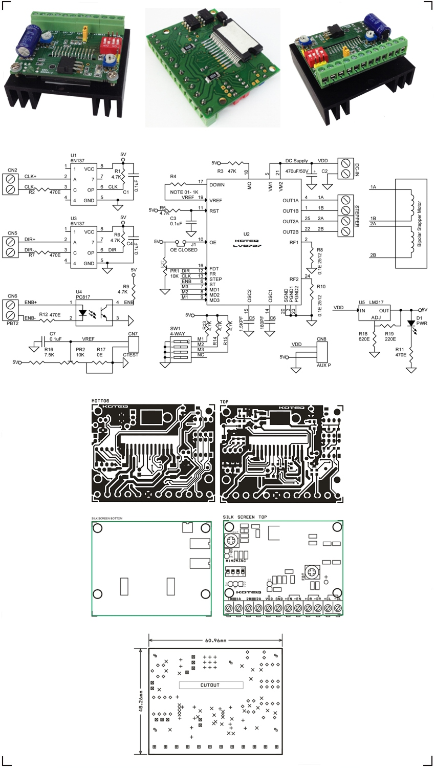 Lv8727 biploar stepper driver schematic archives circuit for Bipolar stepper motor driver circuit