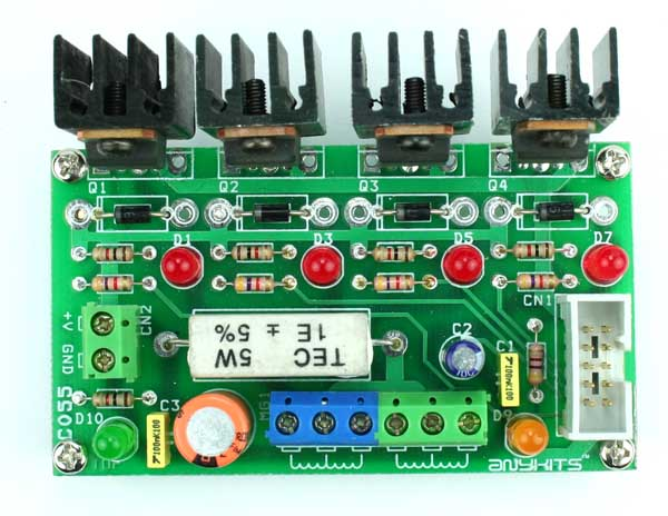 4 CHANNEL HIGH CURRENT DRIVER TRANSITOR BOARD FOR UNIPOLAR MOTOR (1)