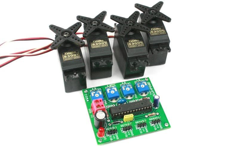 4 CHANNEL RC SERVO DRIVER USING PIC MICRO-CONTROLLER AND PRESETS (3)