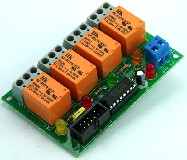 4 CHANNEL RELAY BOARD USING ULN2003 AND BOX HEADER FOR MICRO-CONTROLLER DEVELOPMENT BOARDS (2)