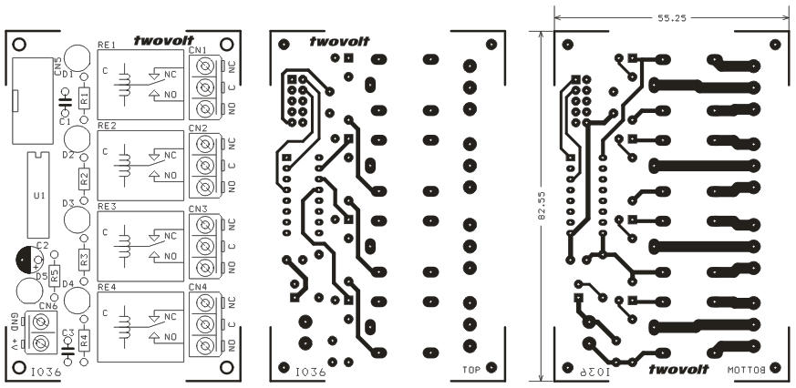 4 Channel Relay Board for MicroController Development Board Using