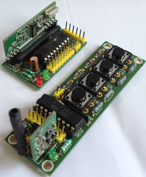 4 Channel RF Remote Controller With Receiver Using PTC2262 ... on