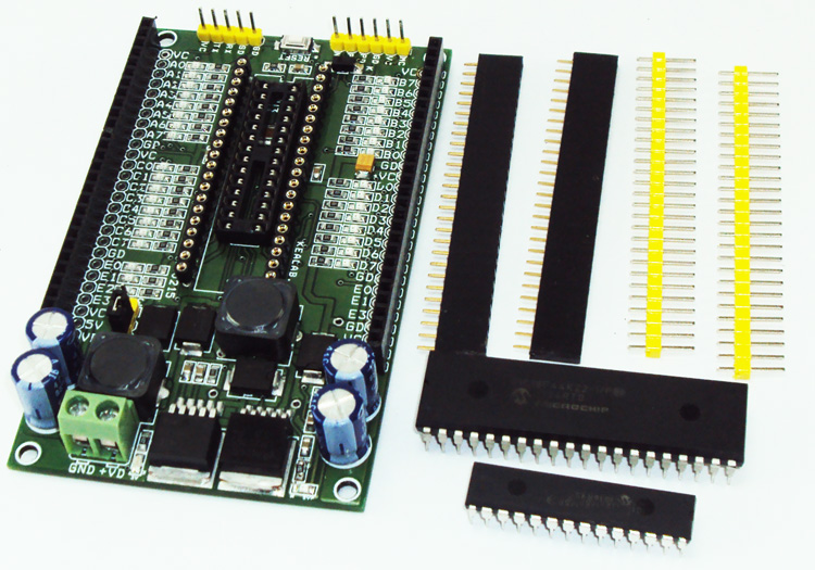 40 & 28 PIN Development Boards on Board 3V3 5V Switching converters (2)