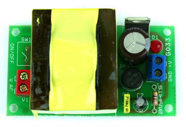 5V 500mA Regulated Liniar Power Supply with On Board Transformer (1)