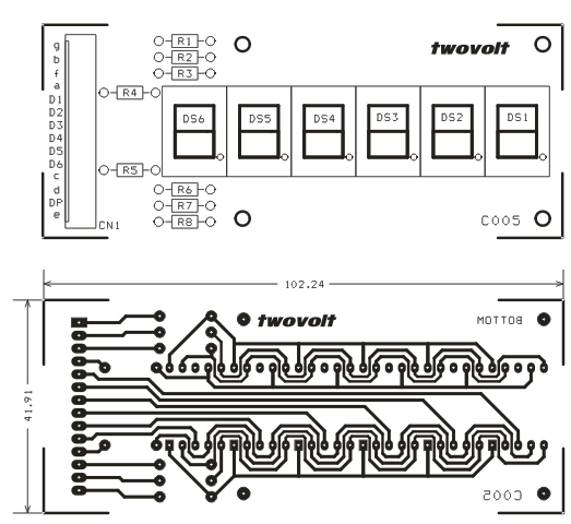 6 digit 7-segment multiplexed display module archives