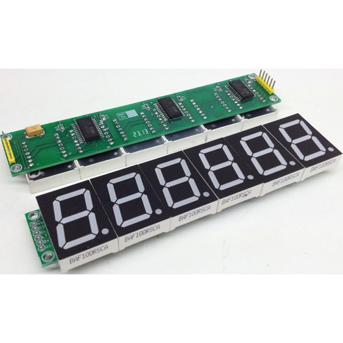 6 digit spi display using 1 inch 7 segment display and CAT4016 ic (2)