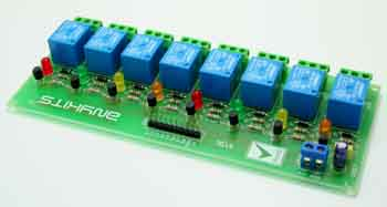 8 Channel Relay Board Using Sugar Cube Relays BC547 Driver