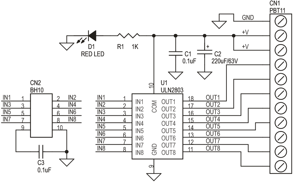 Uln2803 Driver Circuit Electrical Wiring Diagram
