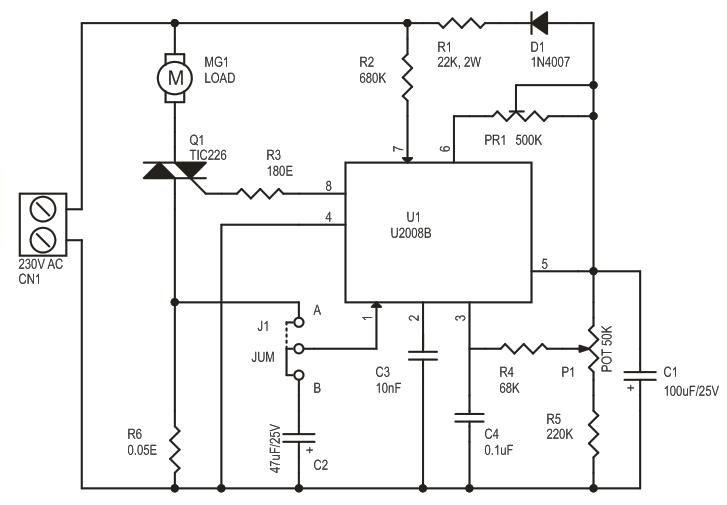 ac motor speed controller using u2008 current feedback