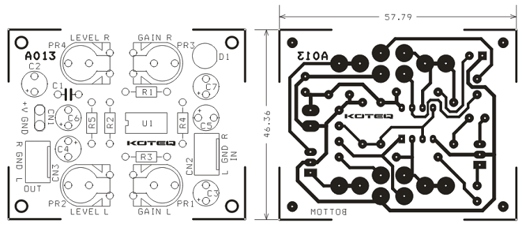 small signal amplifier  pre-amplifier  for audio signal