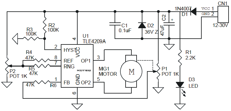 closed loop analog dc motor based servo motor using