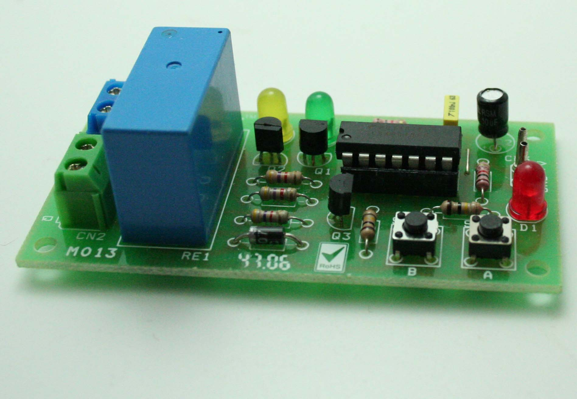 Dc Motor Direction Controller Using Relay And Digital Toggle Switch Network