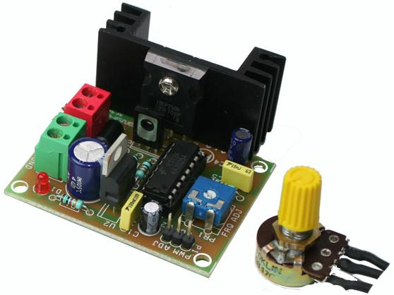 High Current Load PWM DC Motor Speed Controller Using SG3525