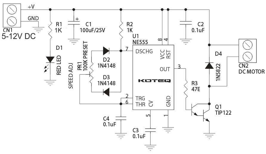 pwm dc motor speed controller using 555 timer archives