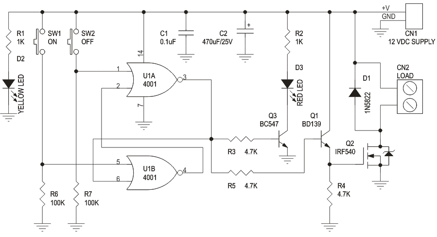 Digital Toggle Switch With MOSFET Based Solid State Relay Output