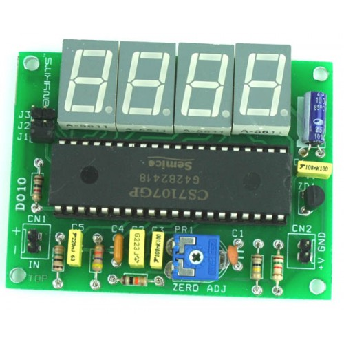 digital panel meter dpm using icl7107 ic 7 segment display rh twovolt com