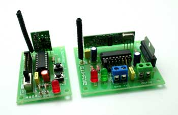 RF Remote Based Dc Motor Driver Using HT12E & HT12D