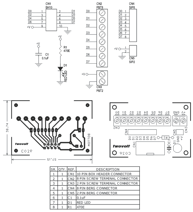 8 Channel Inputoutput Board For Micro Controller Development Boards Box Header To Screw Terminal Board