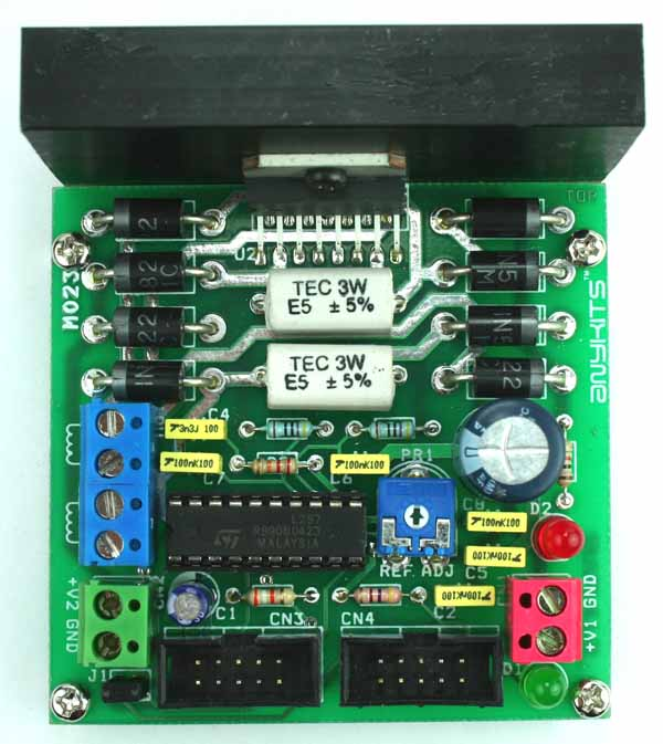 L298 and L297 Based High Current Stepper Motor Driver with Mach 3 Interface (4)
