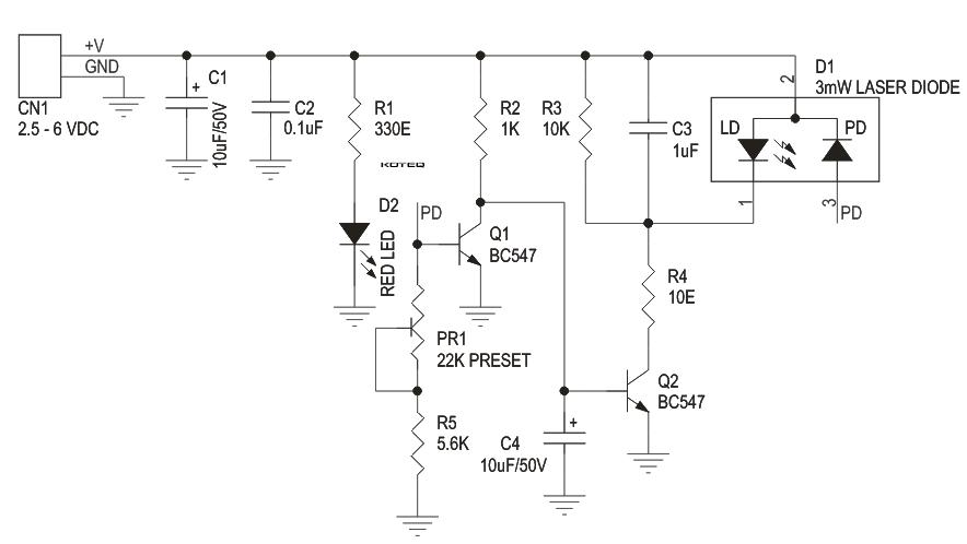 Laser Diode Driver Using Transistors on sanyo radio schematics