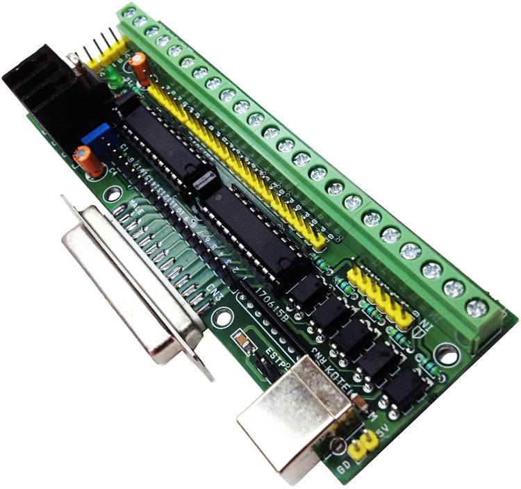 LPT BREAKOUT BOARD FOR CNC SOFTWARES STEPPER DRIVERS (1)