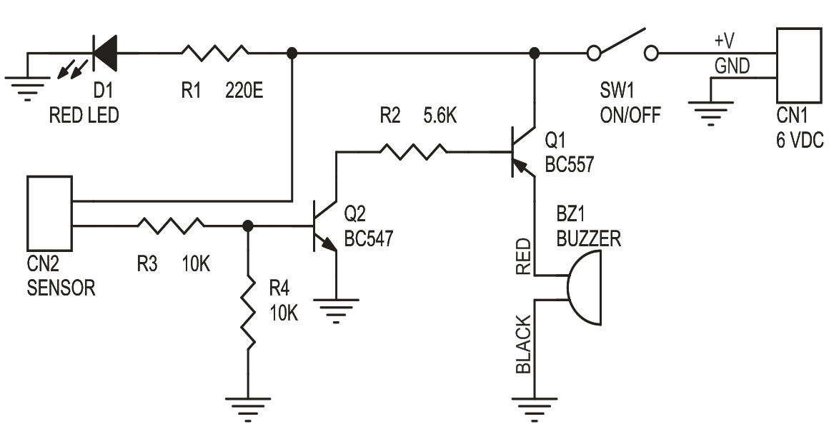 Moisture Sensitive Alarm Circuit Using BC547 Transistor and PCB