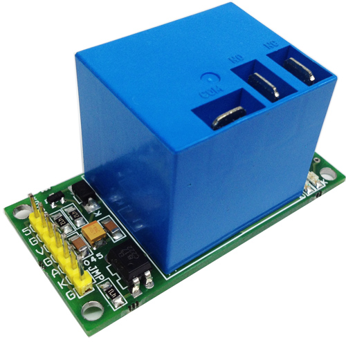 ONE CHANNEL HIGH CURRENT RELAY BOARD WITH ONBOARD 7805 REGULATOR OPTICALLY ISOLATED INPUT  (1)