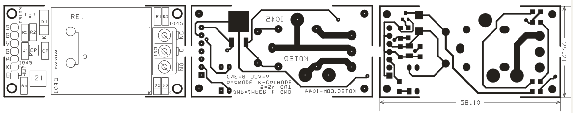ONE CHANNEL HIGH CURRENT RELAY BOARD WITH ONBOARD 7805 REGULATOR OPTICALLY ISOLATED INPUT  (2)