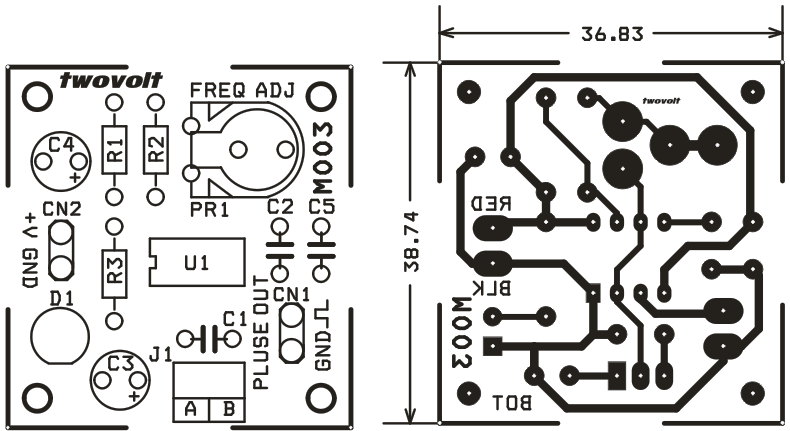 ... PULSE GENERATOR FOR STEPPER MOTOR DRIVER USING 555 TIMER (2) ...