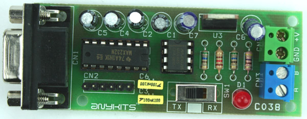 RS232 TO RS485 CONVERTER CIRCUIT USING MAX232 & MAX485 (1)