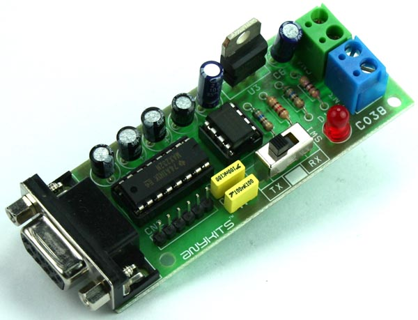 RS232 TO RS485 CONVERTER CIRCUIT USING MAX232 & MAX485 (2)