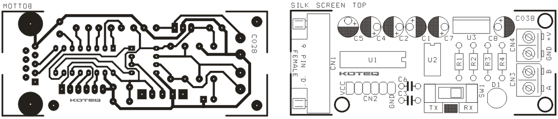 rs232 to rs485 converter board using max232 \u0026 max485 circuit ideasrs232 to rs485 converter circuit using max232 \u0026 max485