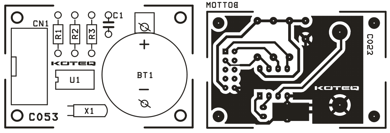 RTC MODULE SCHEMATIC USING DS1307 (2)