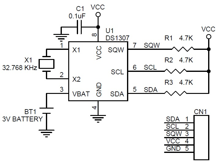 RTC Module Using SMD Components DS1307 (3)