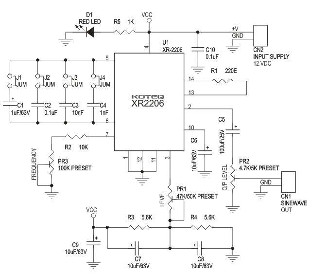 Xr2206 Function Generator Circuit Diagram | #1 Wiring