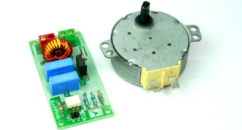 Solid state ac relay for ac motor using traic circuit for Solid state motor speed control
