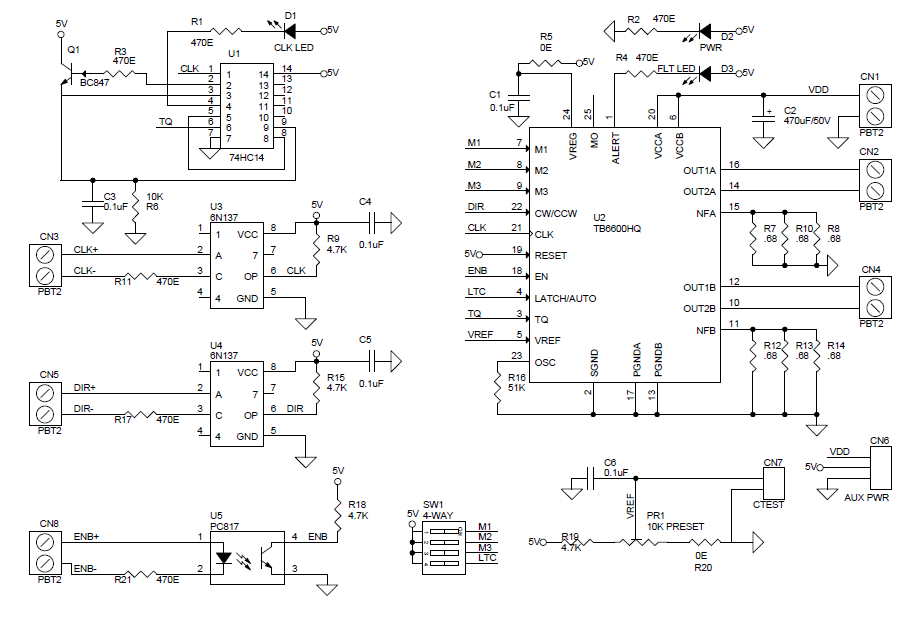 tb6600 stepper motor driver circuit archives
