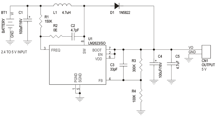 TWO CELL-BATTERY TO 5V STEP UP DC-DC CONVERTER (2)