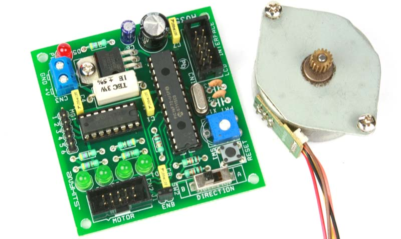 Tiny Low Current Stepper Motor Driver Using PIC16F72 and ULN2003 (1)