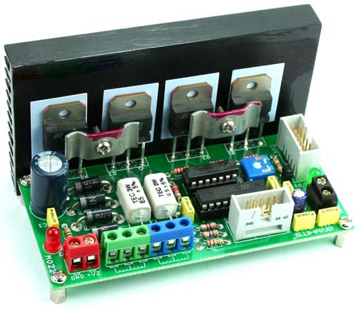 Unipolar Stepper Motor Driver Using Transistors and L297 (4)