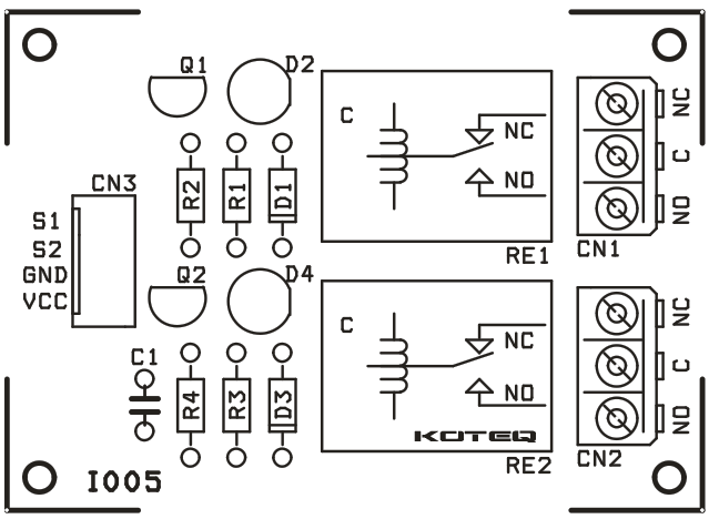 two channel relay board using bc547
