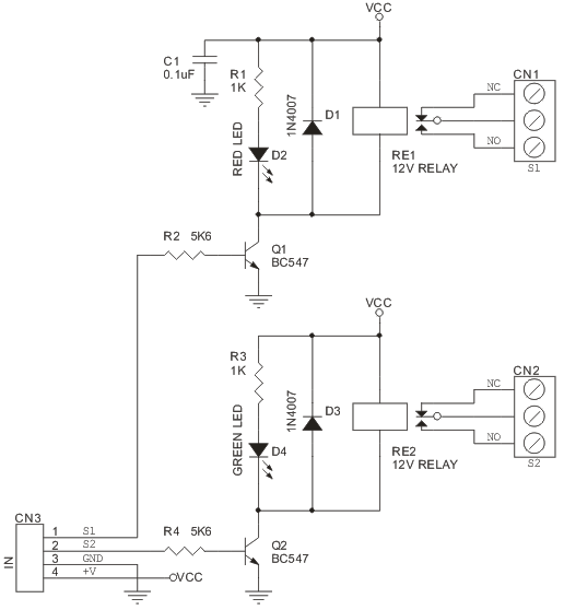 12vdc Relay Board Wiring Diagram