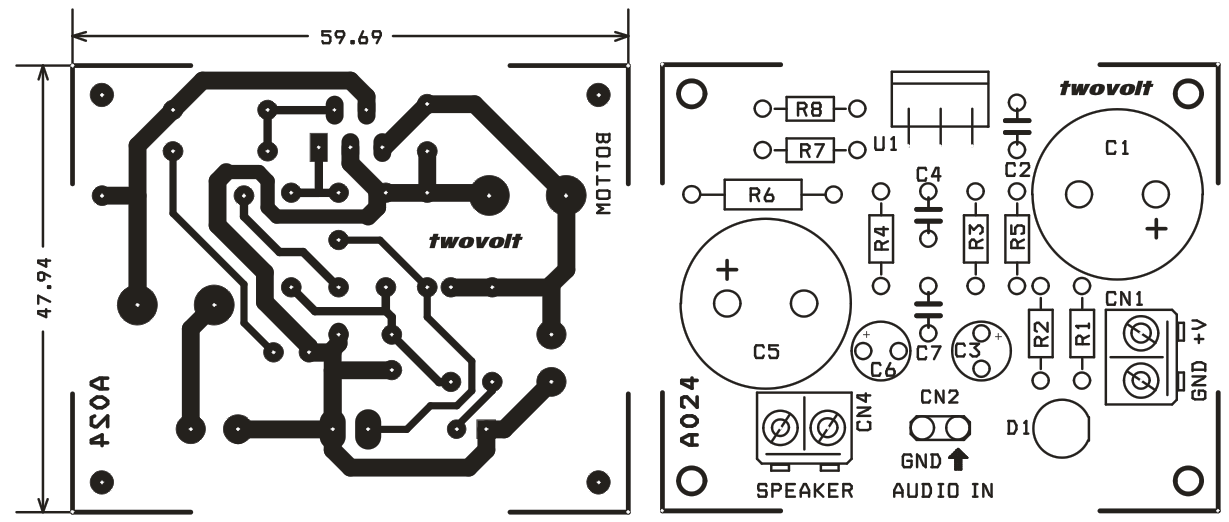 20 W AUDIO AMPLIFIER USING LM1875 (2)