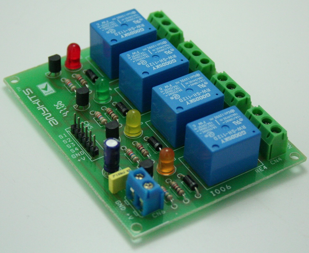 4 Channel Relay Board Using Sugar Cube Relay 12V BC547 Driver