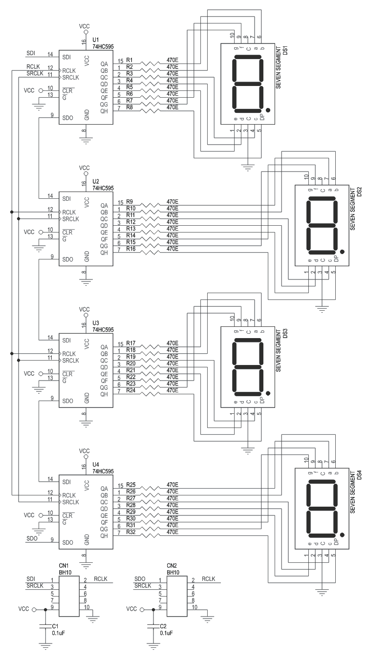 4 digit 7 segment display arduino wiring