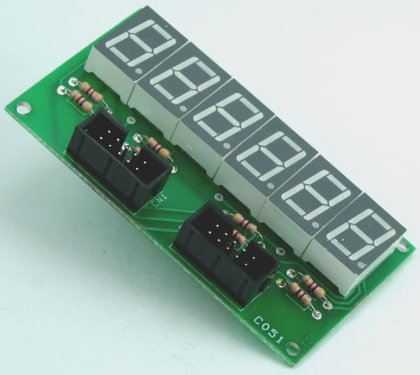 6 DIGIT 7 SEGMENT DISPLAY MODULE SCHEMATIC (2)