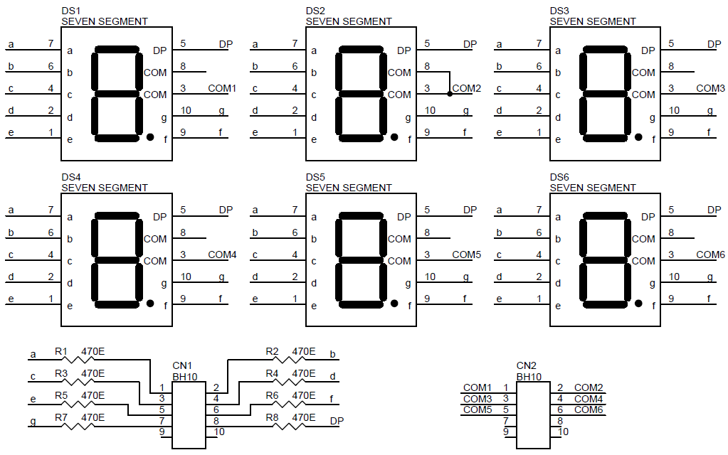 6 digit 7 segment display schematic archives
